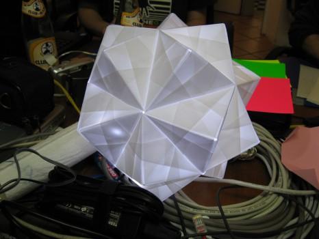 Origami-Lampe vom Bastelnachmittag am 20.11.2009