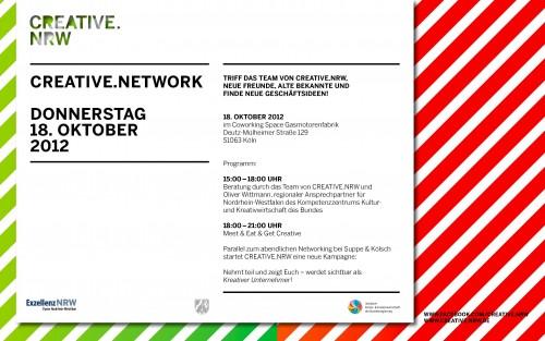 121009 CNR Flyer 500x313 CREATIVE.NETWORK Beratung & Siebdruck Session | Dingfabrik Köln