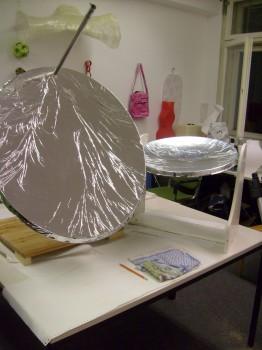 2 Solarkocher die von regeneractiv gebaut wurden